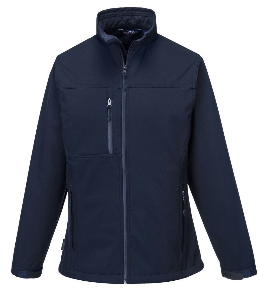 PPG Workwear Portwest Charlotte Ladies Softshell Jacket TK41 Navy Blue Colour