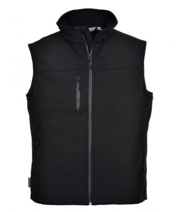 PPG Workwear Portwest Technik Softshell Bodywarmer TK51 Black Colour