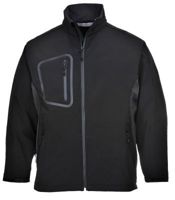 PPG Workwear Portwest Duo Softshell Jacket TK52 Black Colour