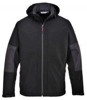 PPG Workwear Portwest Softshell Jacket with Hood TK53 Black Colour