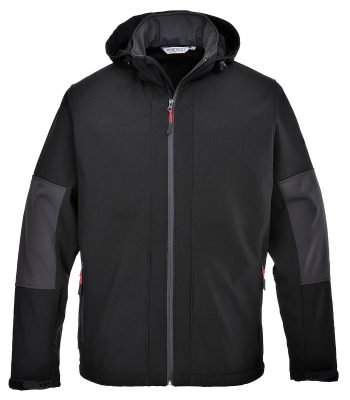 PPG Workwear Portwest Softshell Jacket with Hood TK53 Black Colour