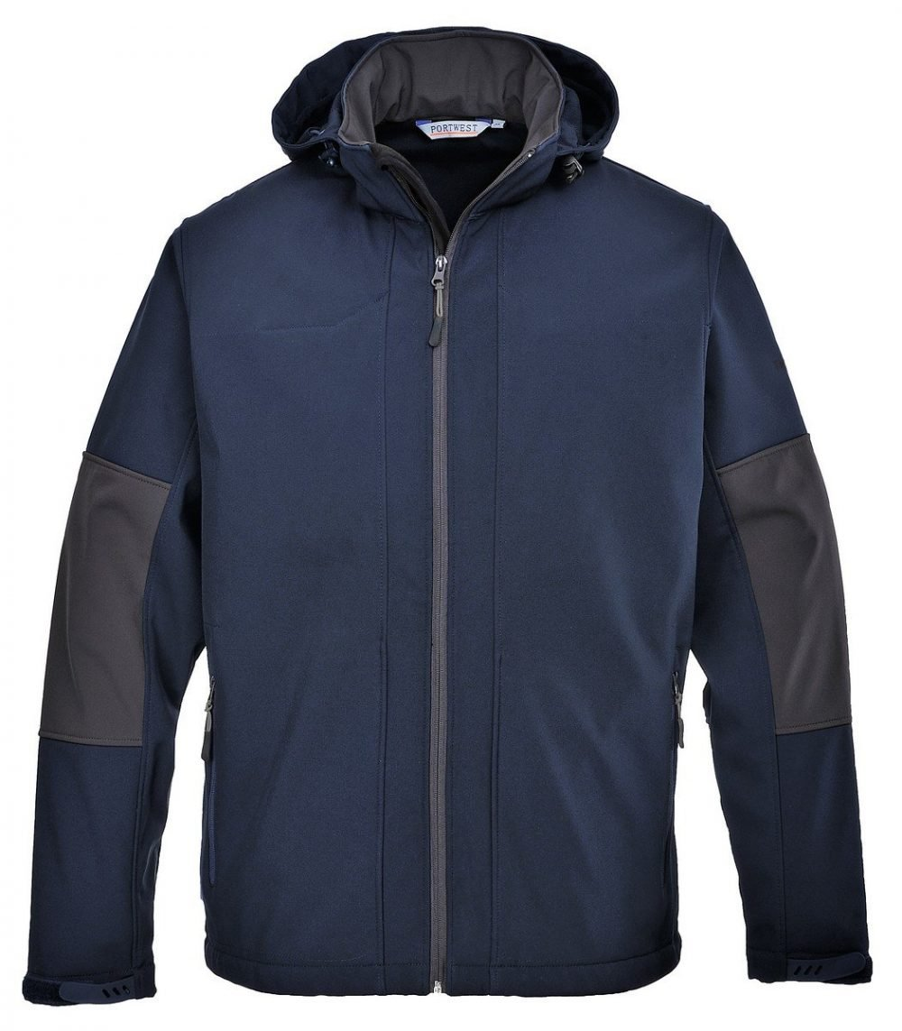 PPG Workwear Portwest Softshell Jacket with Hood TK53 Navy Blue Colour