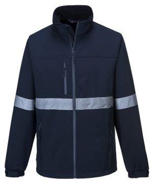 PPG Workwear Portwest Iona Softshell Jacket TK54 Navy Blue Colour