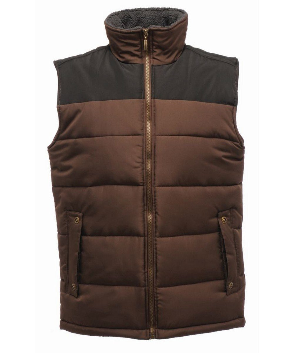 Regatta Standout Altoona Insulated Bodywarmer TRA806 Otter and Black Colour