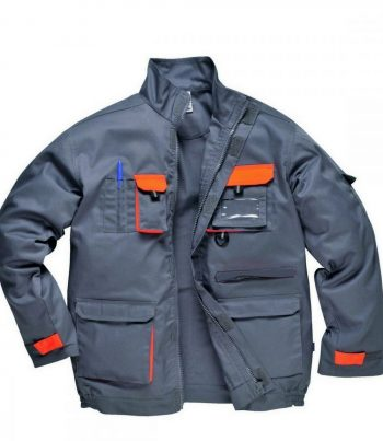 PPG Workwear Portwest Texo Contrast Jacket TX10 Grey Colour