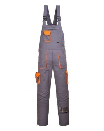 Portwest Texo Contrast Bib/Brace TX12 Grey Colour
