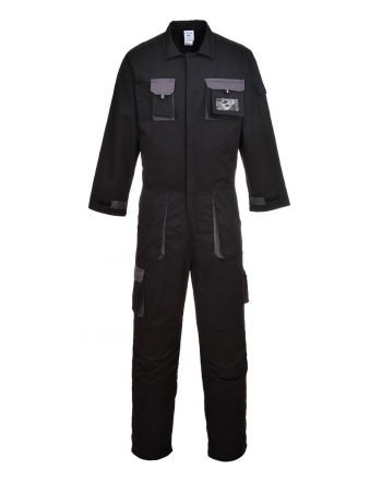 Portwest Texo Contrast Coverall TX15 Black Colour