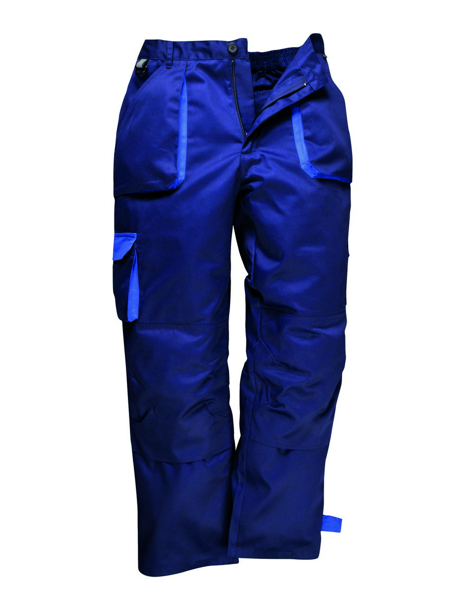 PPG Workwear Portwest Texo Contrast Trousers Lined TX16 Navy Blue Colour