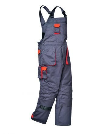 PPG Workwear Portwest Texo Lined Contrast Bib/Brace TX17 Grey Colour