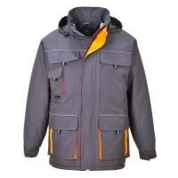 PPG Workwear Portwest Texo Contrast Rain Jacket TX30 Grey Colour