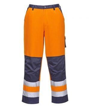 PPG Workwear Portwest Texo Hi Vis Trousers Orange Colour TX51