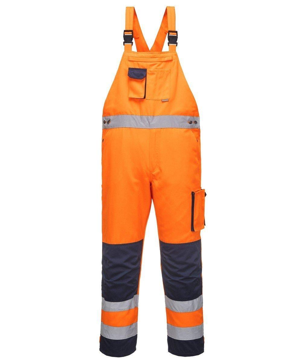 PPG Workwear Portwest Texo Hi Vis Bib/Brace Orange and Navy Colour TX52