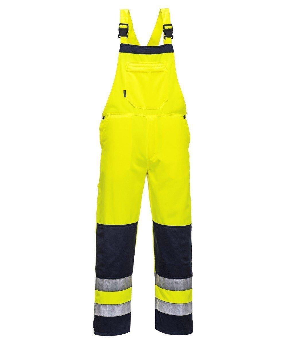 PPG Workwear Portwest Texo Girona Hi Vis Bib/Brace Yellow and Navy Colour TX72