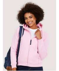 PPG Workwear Uneek Ladies Full Zip Hooded Sweatshirt UC505 Pink Colour