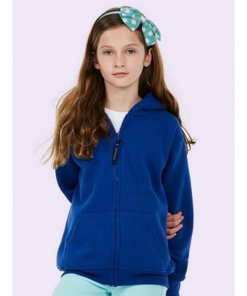PPG Workwear Uneek Childrens Full Zip Hooded Sweatshirt UC506 Royal Blue Colour