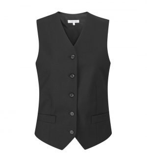 Williams Womens 2 Pocket Waistcoat WLW1 Black Colour