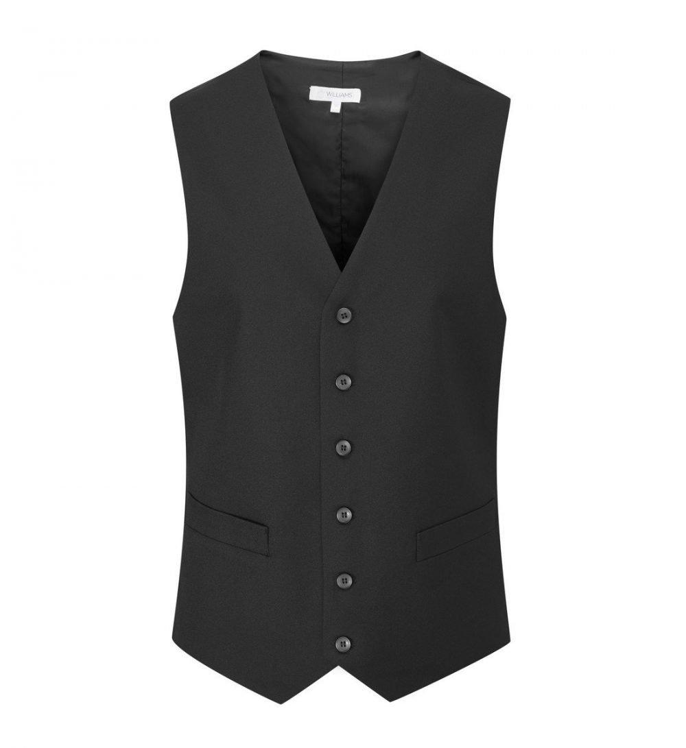 PPG Workwear Williams Mens 2 Pocket Waistcoat WMW1 Black Colour