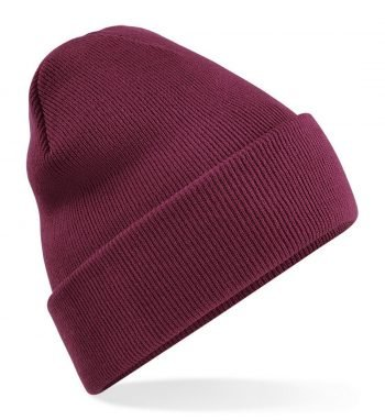 PPG Workwear Beechfield Original Cuffed Beanie Burgundy Colour B45
