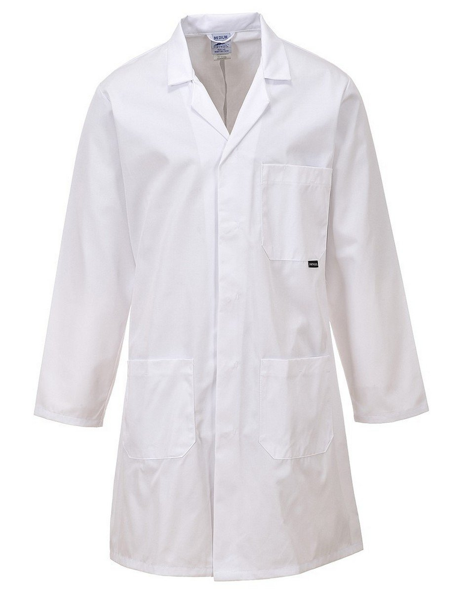 PPG Workwear Portwest Standard Warehouse Coat C852 White Colour