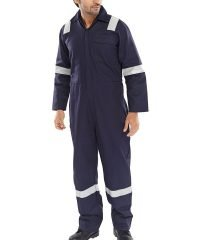 Click Flame Retardant Coverall Nordic Design CFRBSND Navy Blue Colour
