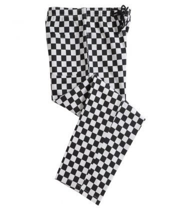 Dennys Check Chefs Trousers DC28 Black and White Check Colour