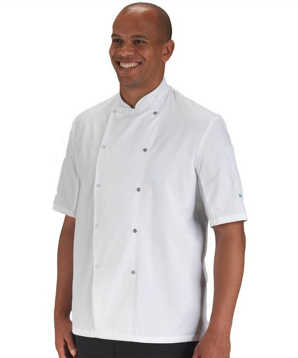 Dennys AFD Thermo Cool Chefs Jacket DD08AFD White Colour Short Sleeve