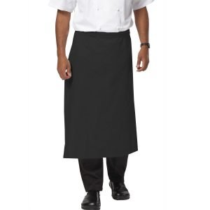 PPG Workwear Dennys Large Chefs Square Apron DP01 Black Colour