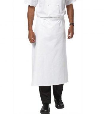 PPG Workwear Dennys Large Chefs Square Apron DP01 White Colour