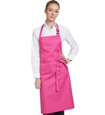PPG Workwear Dennys Multi Coloured Bib Apron DP200 Hot Pink Colour