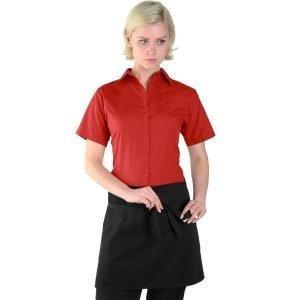 Dennys Black Short Bar Apron Without Pocket DP31CN Black Colour