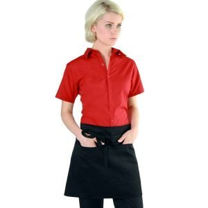 PPG Workwear Dennys Black Short Bar Apron With Pocket DP37CN Black Colour