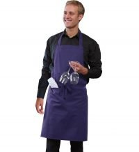 PPG Workwear Dennys Bib Apron With Pocket DP55 Purple Colour