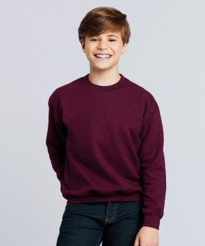 PPG Workwear Gildan Heavy Blend Youth Crewneck Sweatshirt 18000B Garnet Colour
