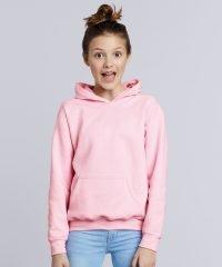 PPG Workwear Gildan Heavy Blend Youth Hooded Sweatshirt 18500B Light Pink Colour