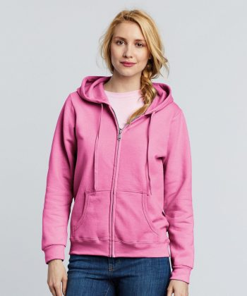 PPG Workwear Gildan Heavy Blend Ladies Full Zip Hooded Sweatshirt 18600FL Azalea Colour