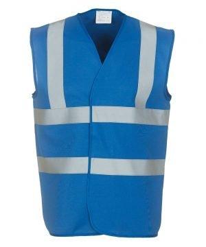 Yoko Hi Vis Vest HVW100 Royal Blue Colour