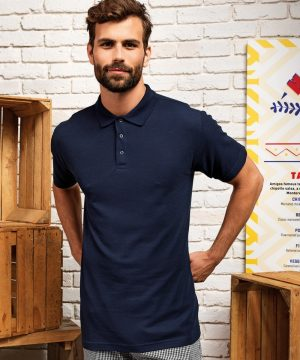 PPG Workwear Premier Stud Polo Shirt PR610 Navy Blue Colour