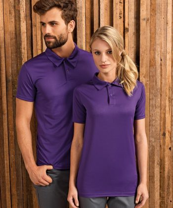 PPG Workwear Premier Coolchecker Studded Polo Shirt PR612 Purple Colour