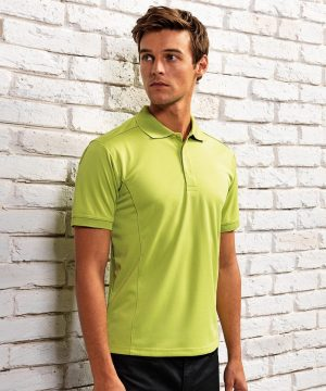 PPG Workwear Premier Mens Coolchecker Polo Shirt PR615 Lime Colour