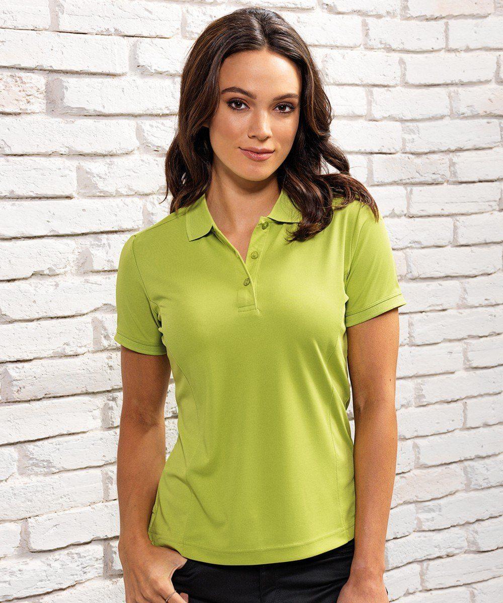 PPG Workwear Premier Womens Coolchecker Polo Shirt PR616 Lime Colour