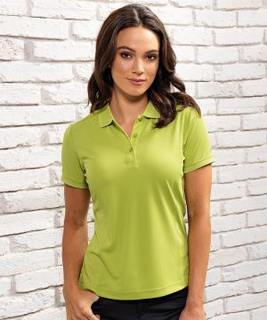 PPG Workwear Premier Womens Coolchecker Polo Shirt PR616 Lime Colour