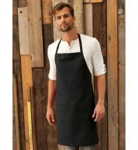 PPG Workwear Premier Bib Apron Without Pocket PR101 Black Colour