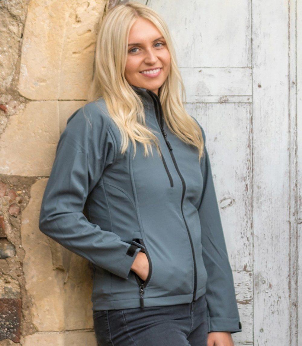 PPG Workwear Result La Femme 2 Layer Base Softshell Jacket R128F Silver Colour