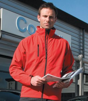 PPG Workwear Result 2 Layer Base Softshell Jacket R128M Red Colour