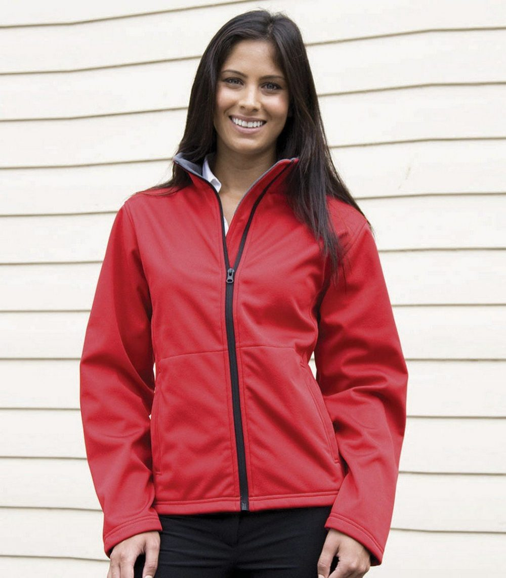 PPG Workwear Result Core Ladies Soft Shell Jacket R209F Red Colour