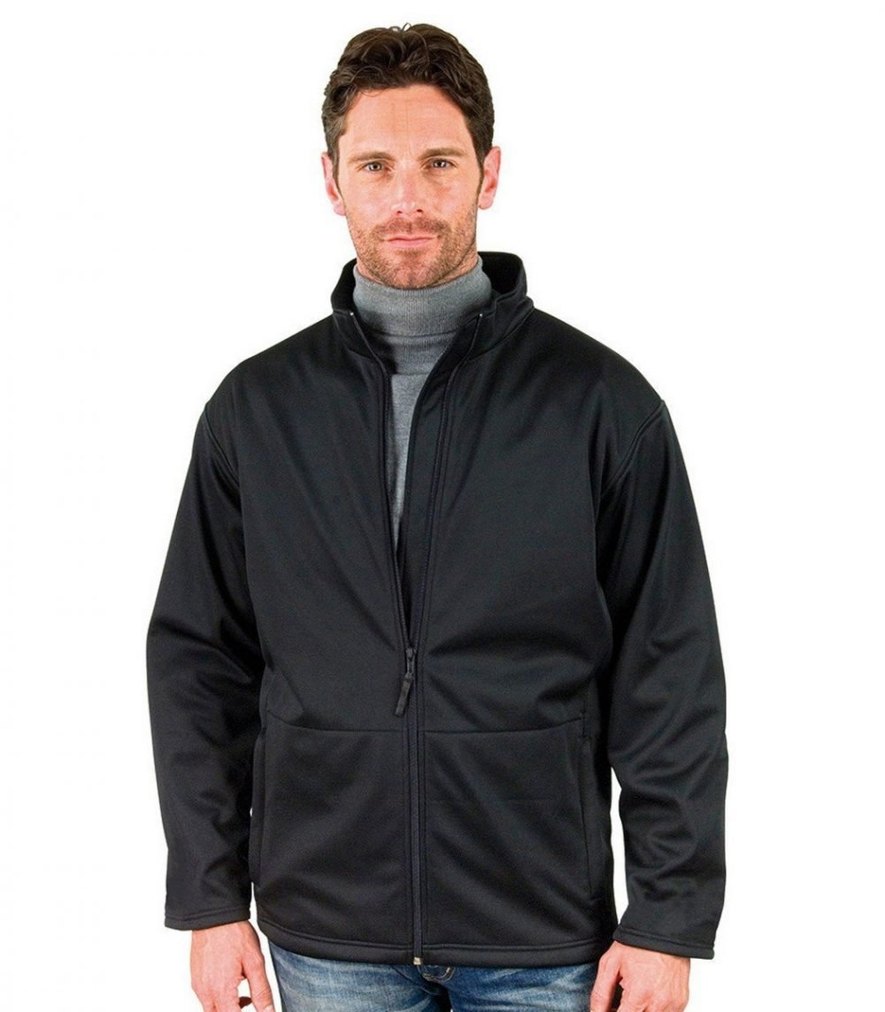 PPG Workwear Result Core Mens Soft Shell Jacket R209M Black Colour