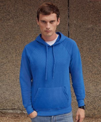 PPG Workwear Fruit Of The Loom Lightweight Hooded Sweatshirt 62140 Azure Colour