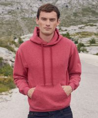Fruit Of The Loom Classic Hooded Sweatshirt 62208 Vintage Heather Red Colour