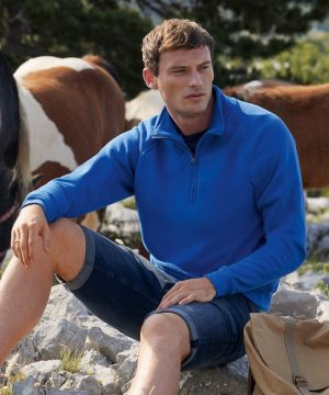 Fruit Of The Loom Classic Zip Neck Sweatshirt 62114 Royal Blue Colour