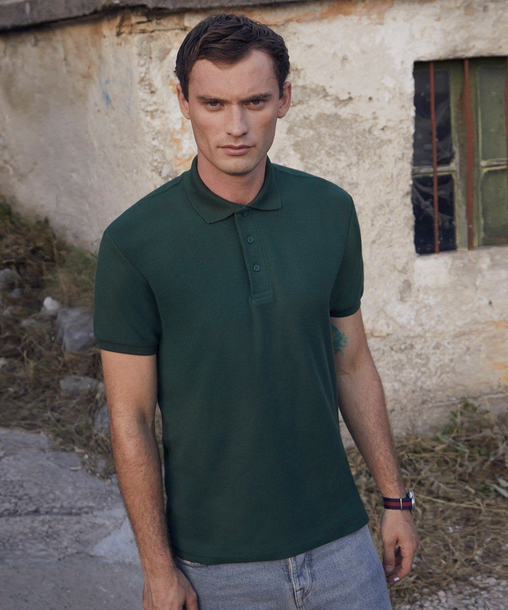 PPG Workwear Fruit Of The Loom Heavyweight Pique Polo Shirt 63204 Bottle Green Colour